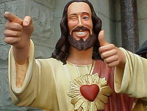 Buddy Christ not missing fingers