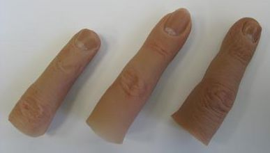 Silicone finger prosthetic